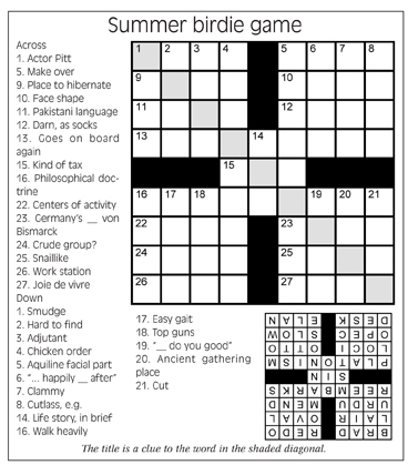 July Newsletter Puzzle