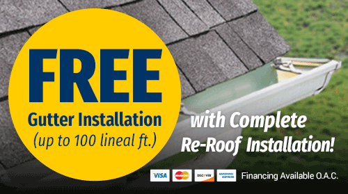 Free Gutter Installation (with re-roof installation)