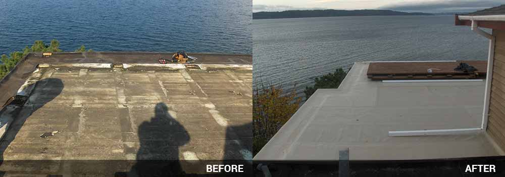 Flat Roofing By Guardian Roofing In Seattle