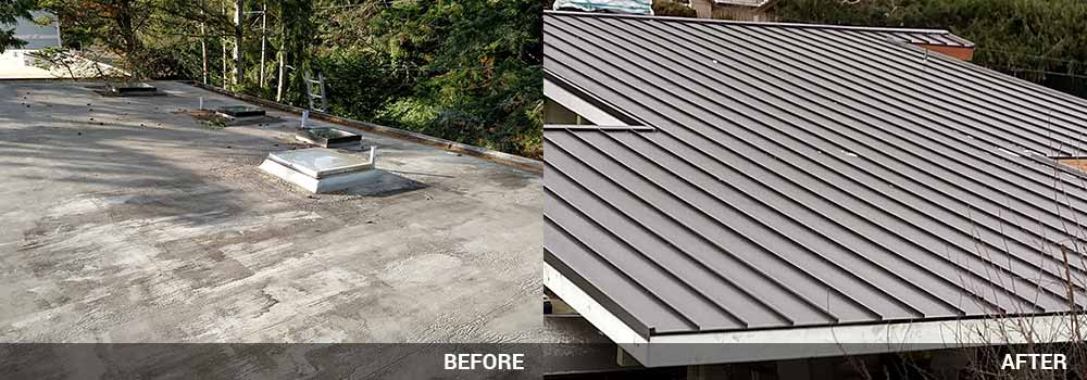 Below You Will Find Before / After Shots Of Metal Roofing Jobs Completed By  Guardian Roofing.