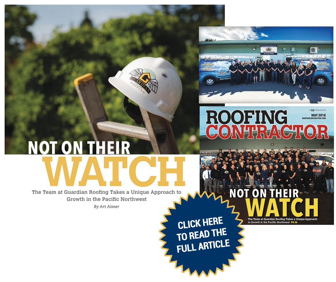 Guardian Roofing Featured in Roofing Contractor: May 2018