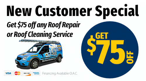 New Customer Special $75 Off any Roof Repair