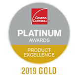 Owens Corning Platinum Awards Product Excellence