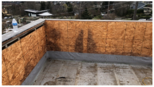 Flat Roof Flashing Damage