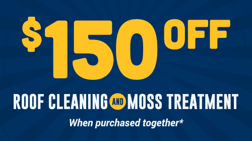 $150 Off Roof Cleaning & Moss Treatment