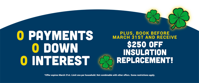 Exclusive Roofing Finance Offer thru March 31st